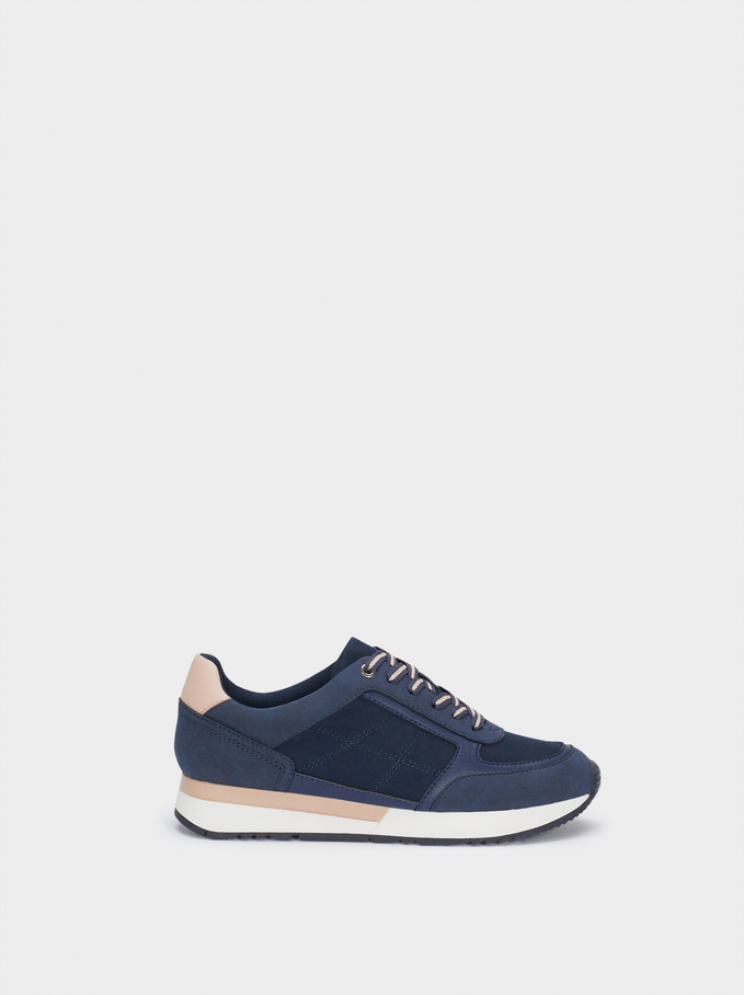 Trainers With Matching Colours, Navy, hi-res