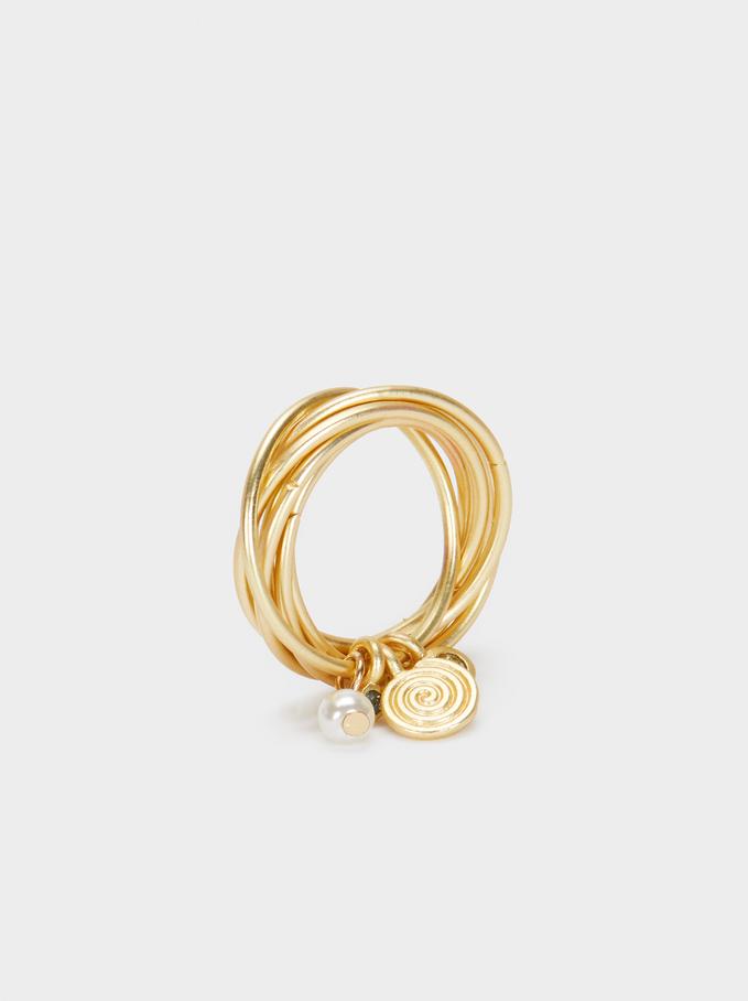 Anello Dorato, D'oro, hi-res