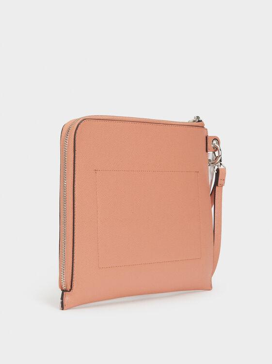 Printed Toiletry Bag, Pink, hi-res