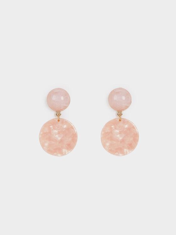 Land Marble-Effect Medium Earrings, , hi-res