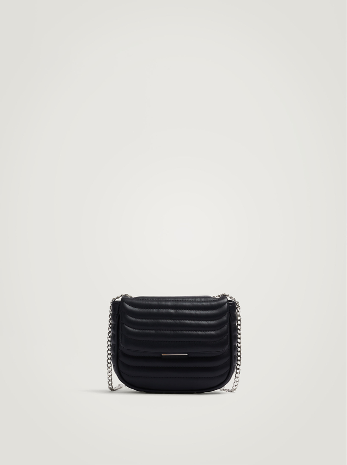 Quilted Party Crossbody Bag, Black, hi-res