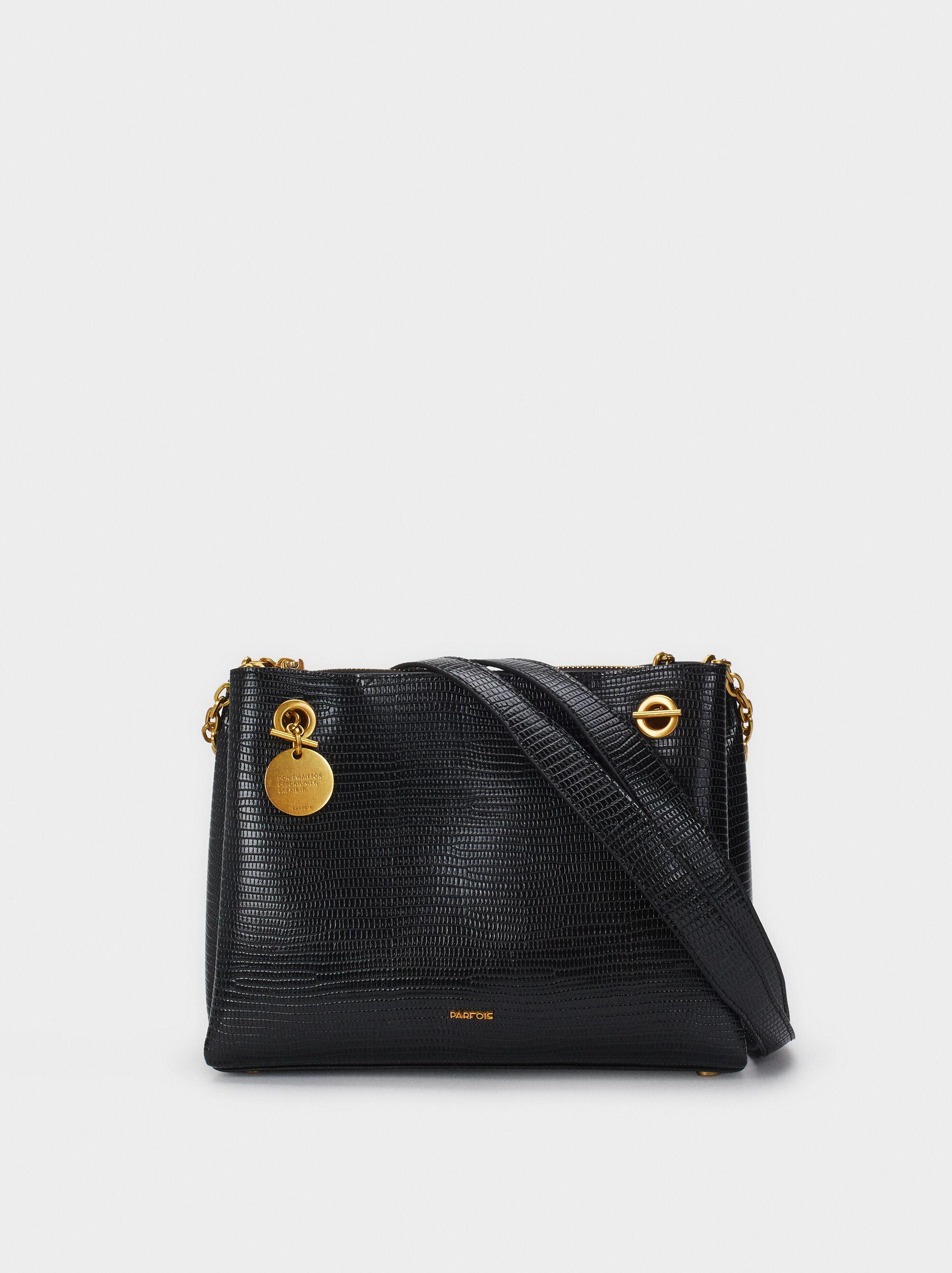 Animal Embossed Shoulder Bag, , hi-res