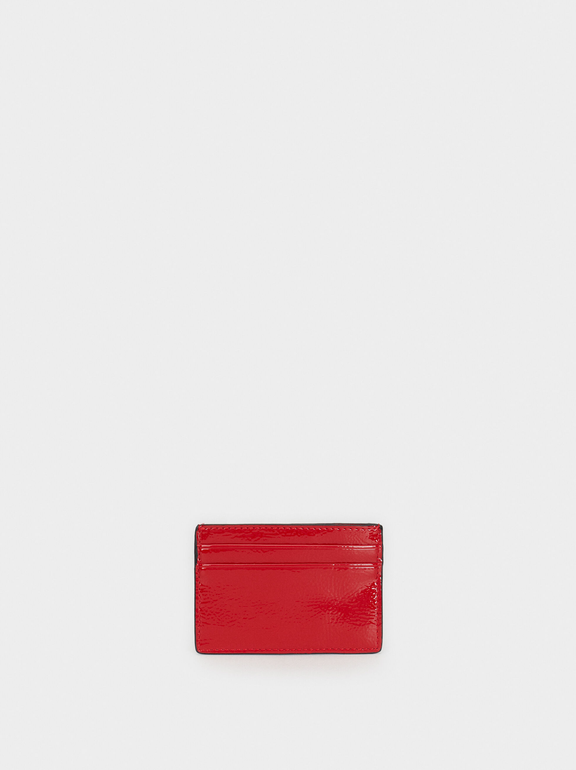 We Are Love Patent Finish Card Holder, Red, hi-res