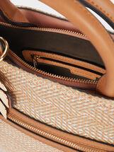 Raffia Textured Tote Bag, Pink, hi-res