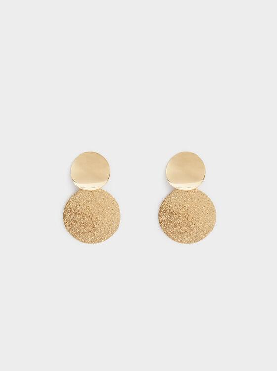 Medium Circle Earrings, Golden, hi-res
