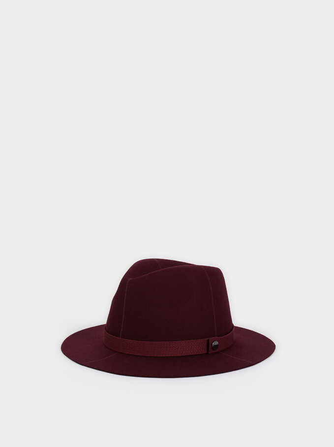 Wool Hat, Bordeaux, hi-res