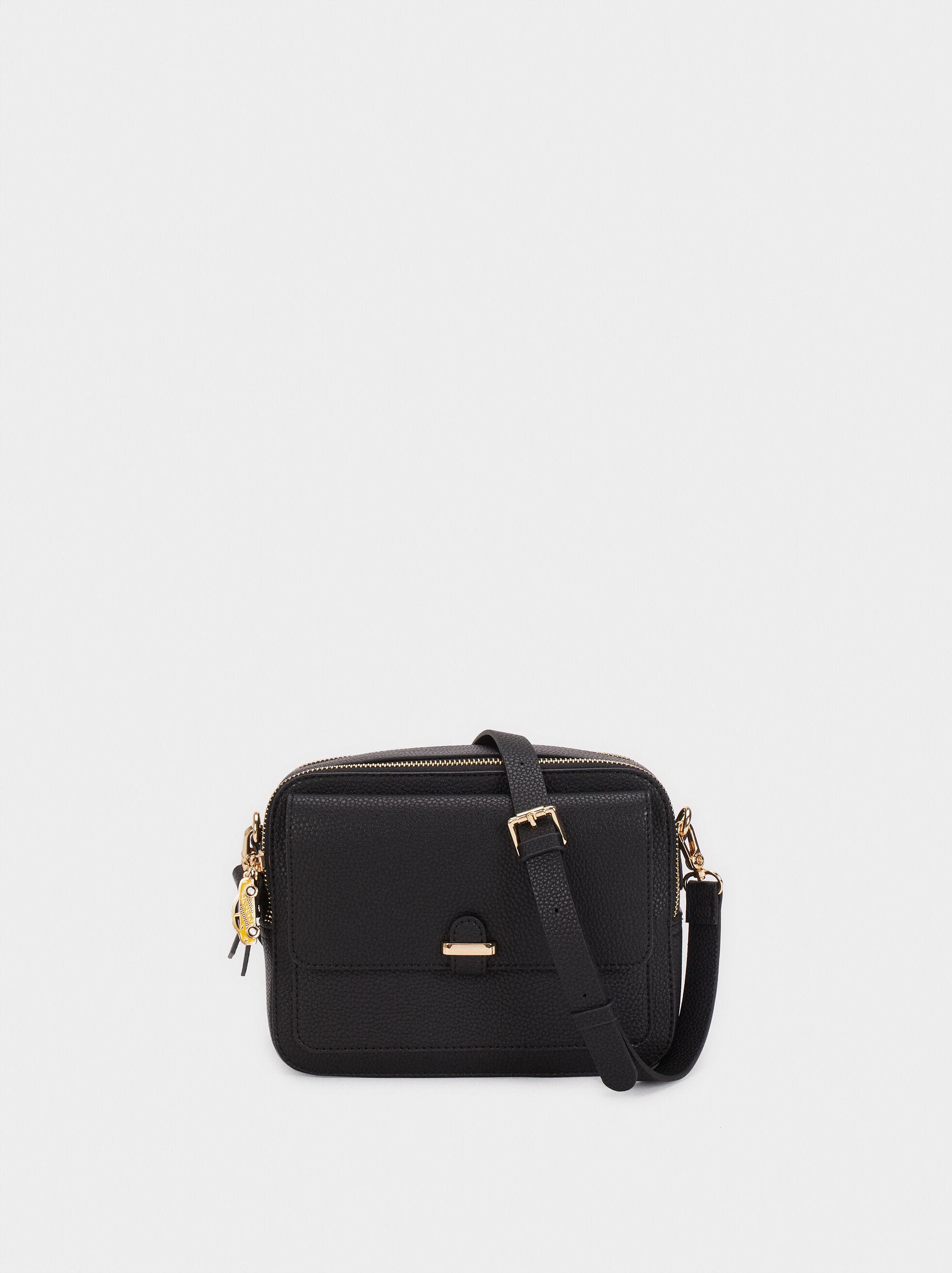 Shoulder Bag With Outer Pocket, , hi-res