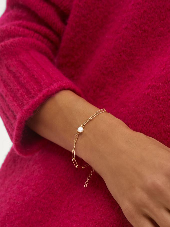 Bracelet With Pearl, , hi-res