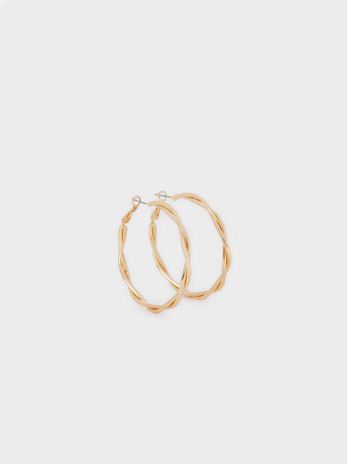Large Gold Hoop Earrings, Golden, hi-res