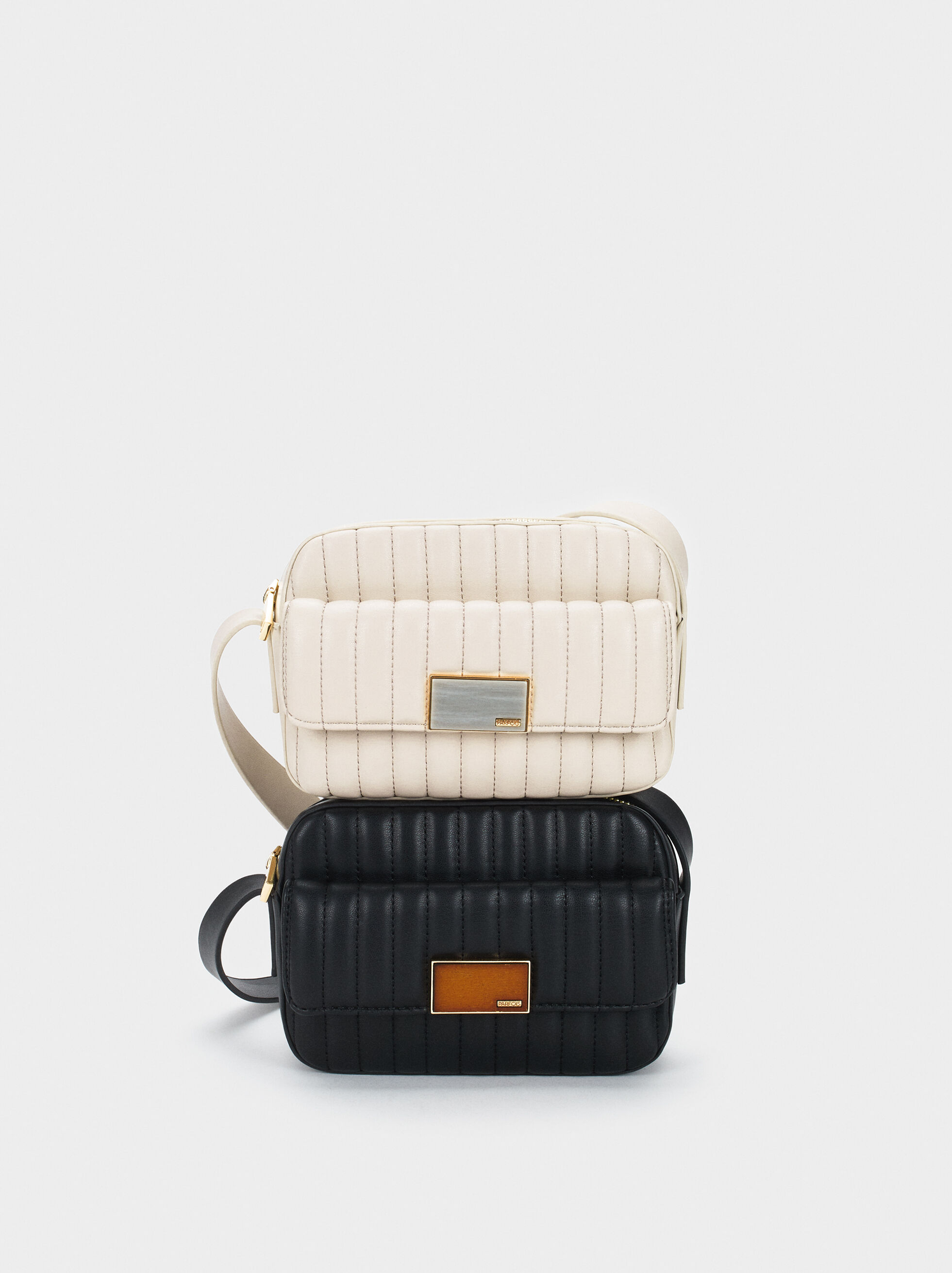 Padded Shoulder Bag, Ecru, hi-res