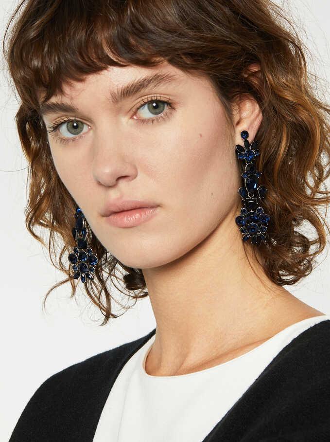 Blue Ink Earrings, Navy, hi-res