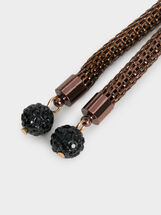 Star Dust Necklace, Black, hi-res