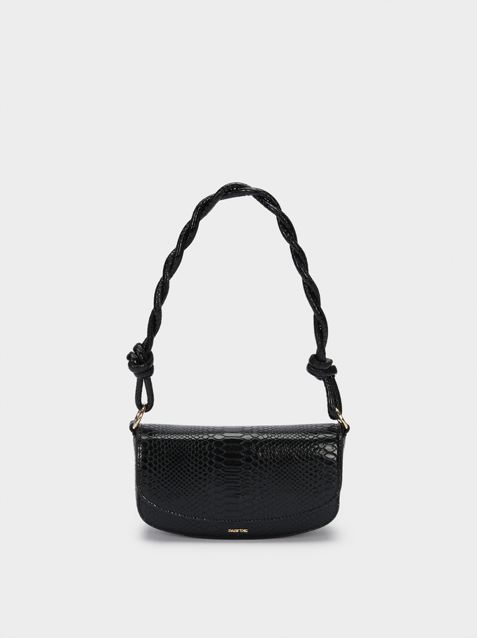 Party Bag With Double Strap, Black, hi-res