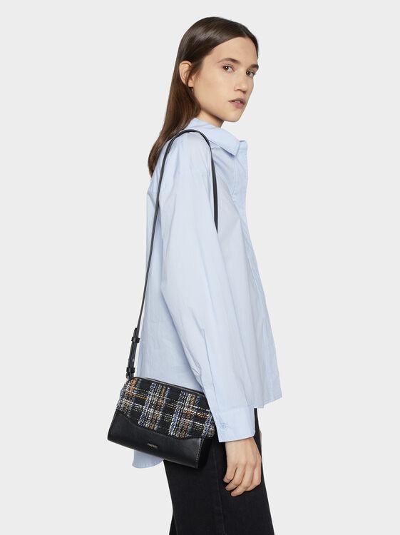 Chequerboard Crossbody Bag, Blue, hi-res