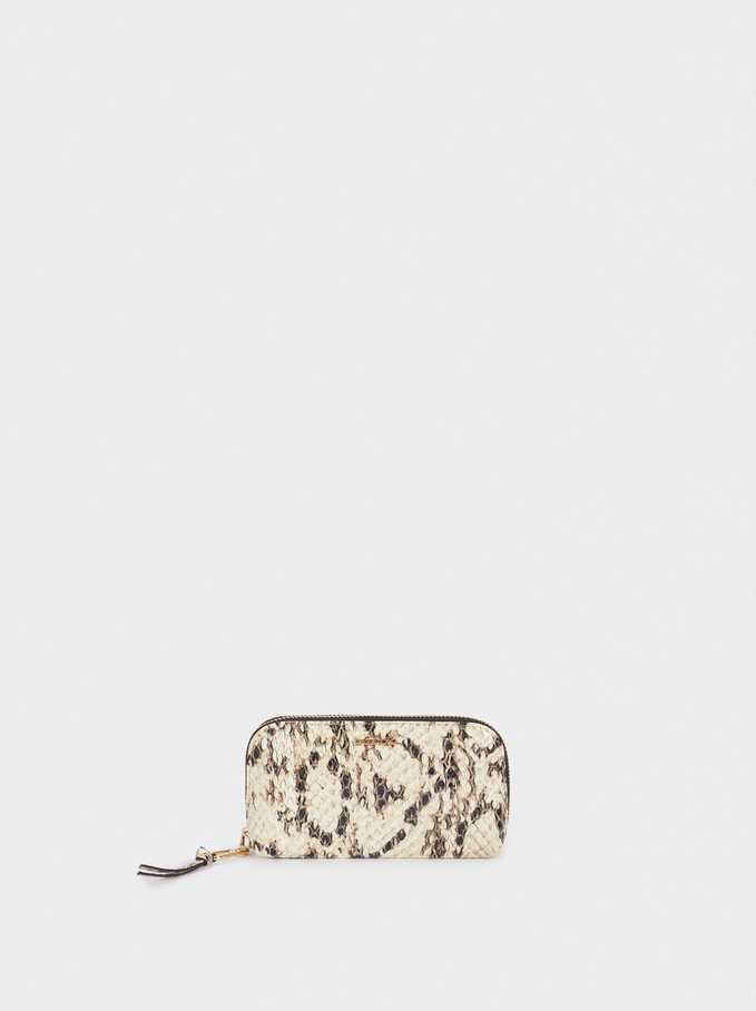 Animal Print Purse, Beige, hi-res