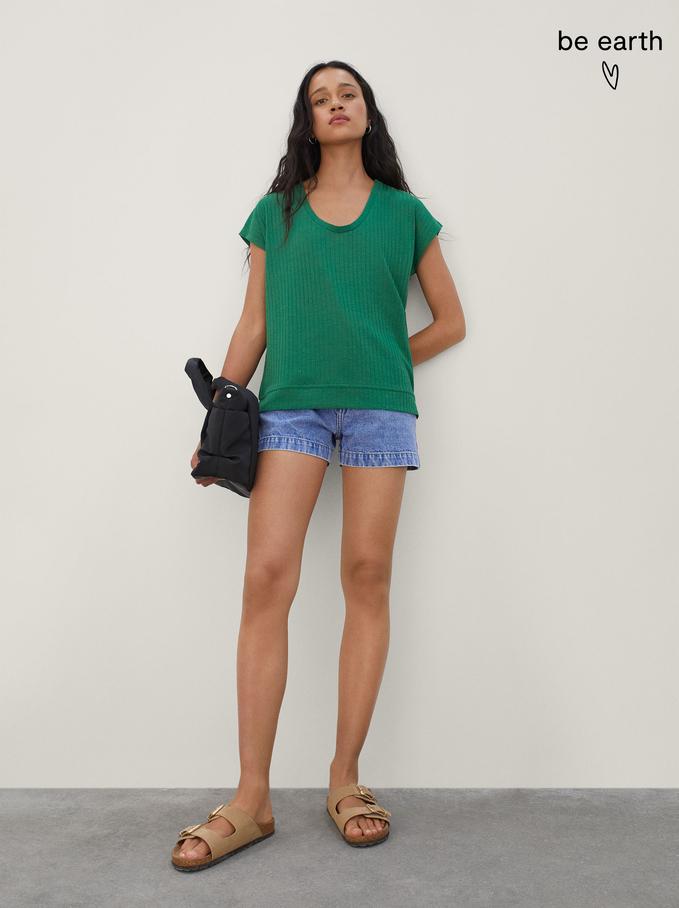 Camiseta Confeccionada Con Materiales Reciclados, Verde, hi-res
