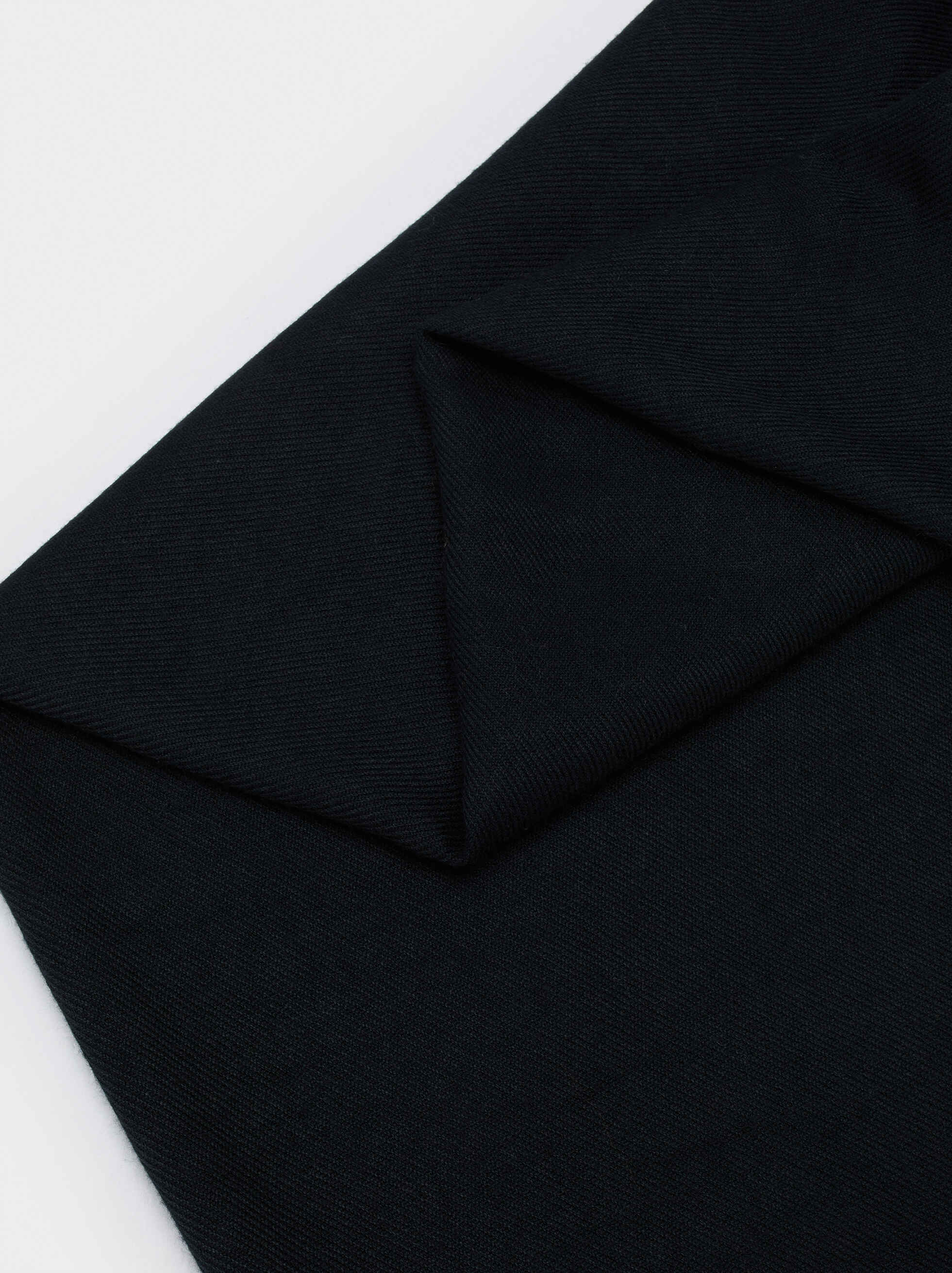 Plain Maxi Scarf, Black, hi-res