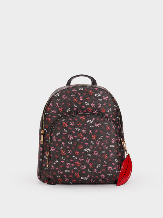 We Are Love Print Backpack, , hi-res