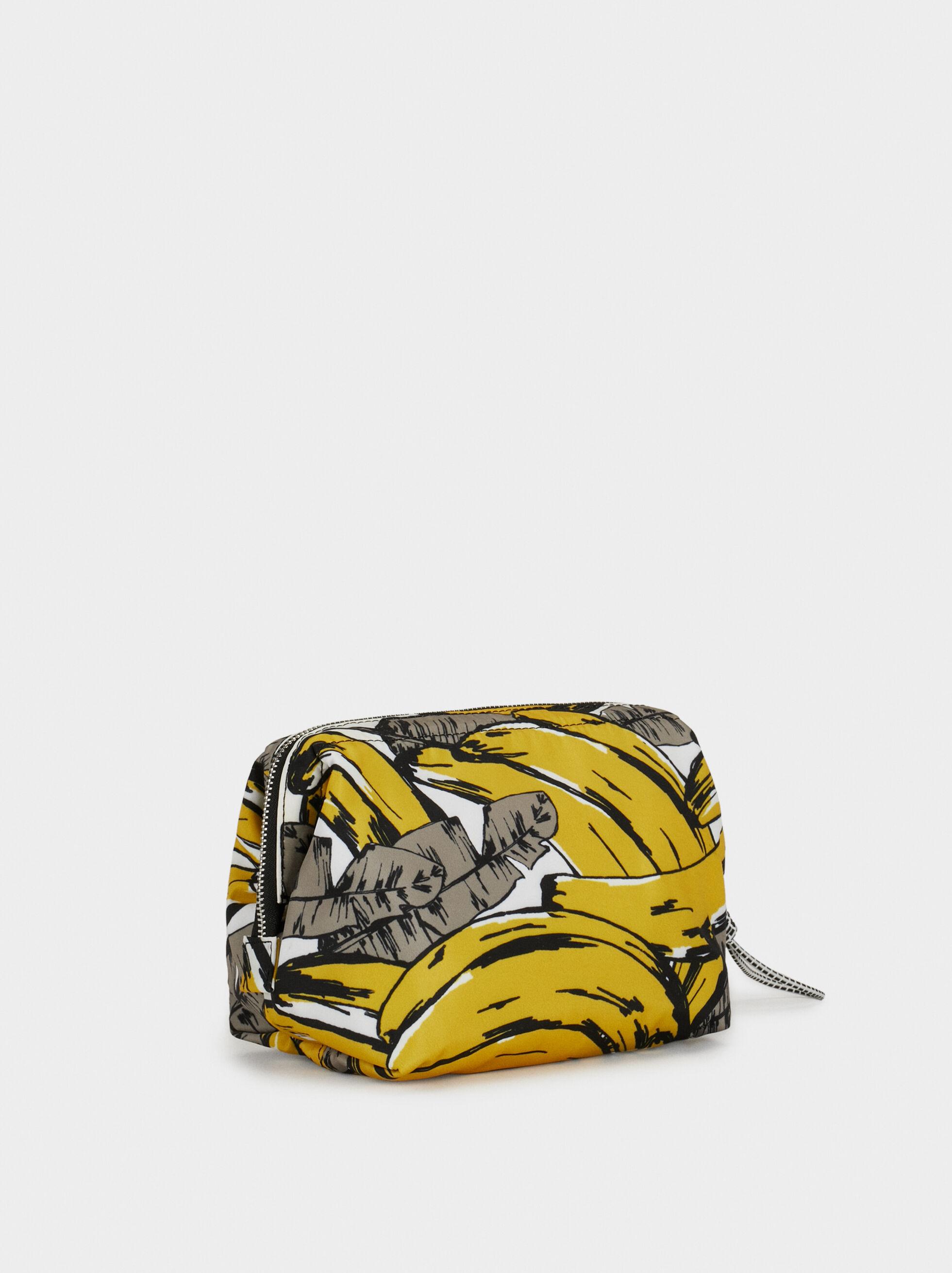 Medium Nylon Toiletry Bag, Yellow, hi-res