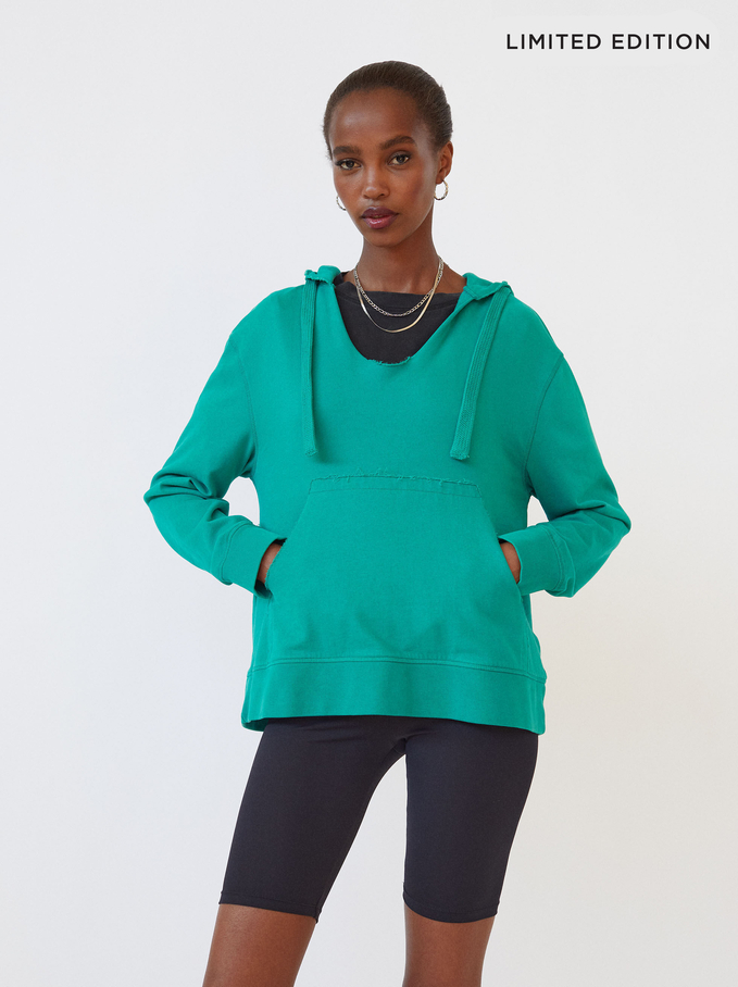 Limited Edition Knit Hoodie, Green, hi-res