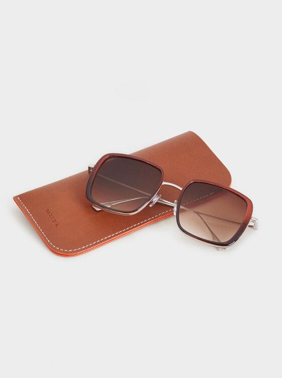 Square Sunglasses, Bordeaux, hi-res