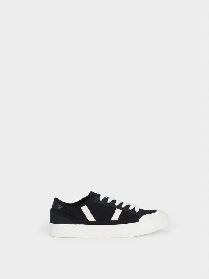 Buty Sportowe Z Bawelny Organicznej, Czarny, hi-res
