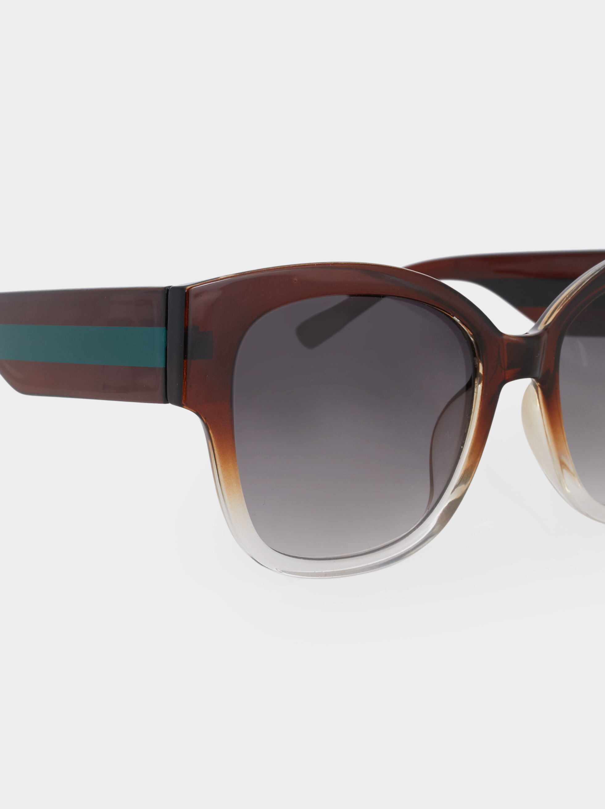Resin Sunglasses, Brown, hi-res