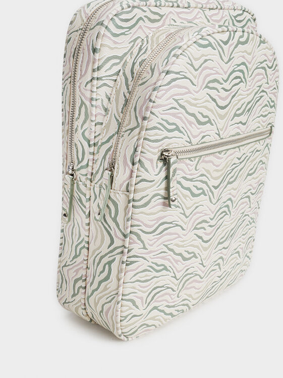 Print Backpack, Ecru, hi-res