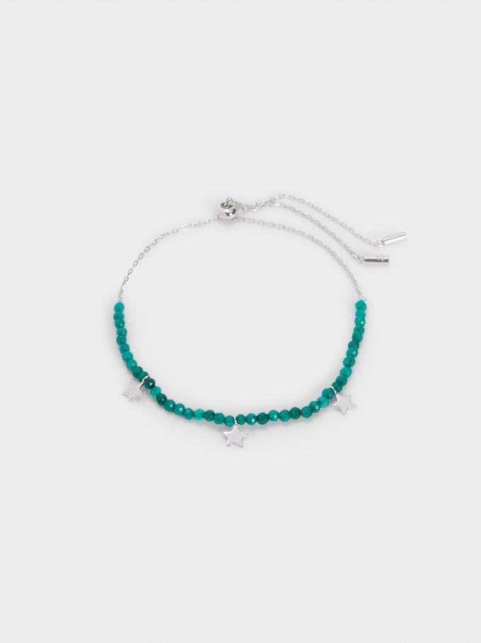 Bracelet En Argent925 Pierres Et Étoile, Bleu, hi-res