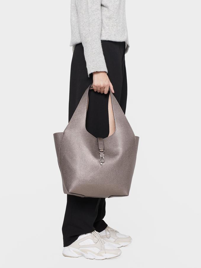 Reversible Handbag, Silver, hi-res