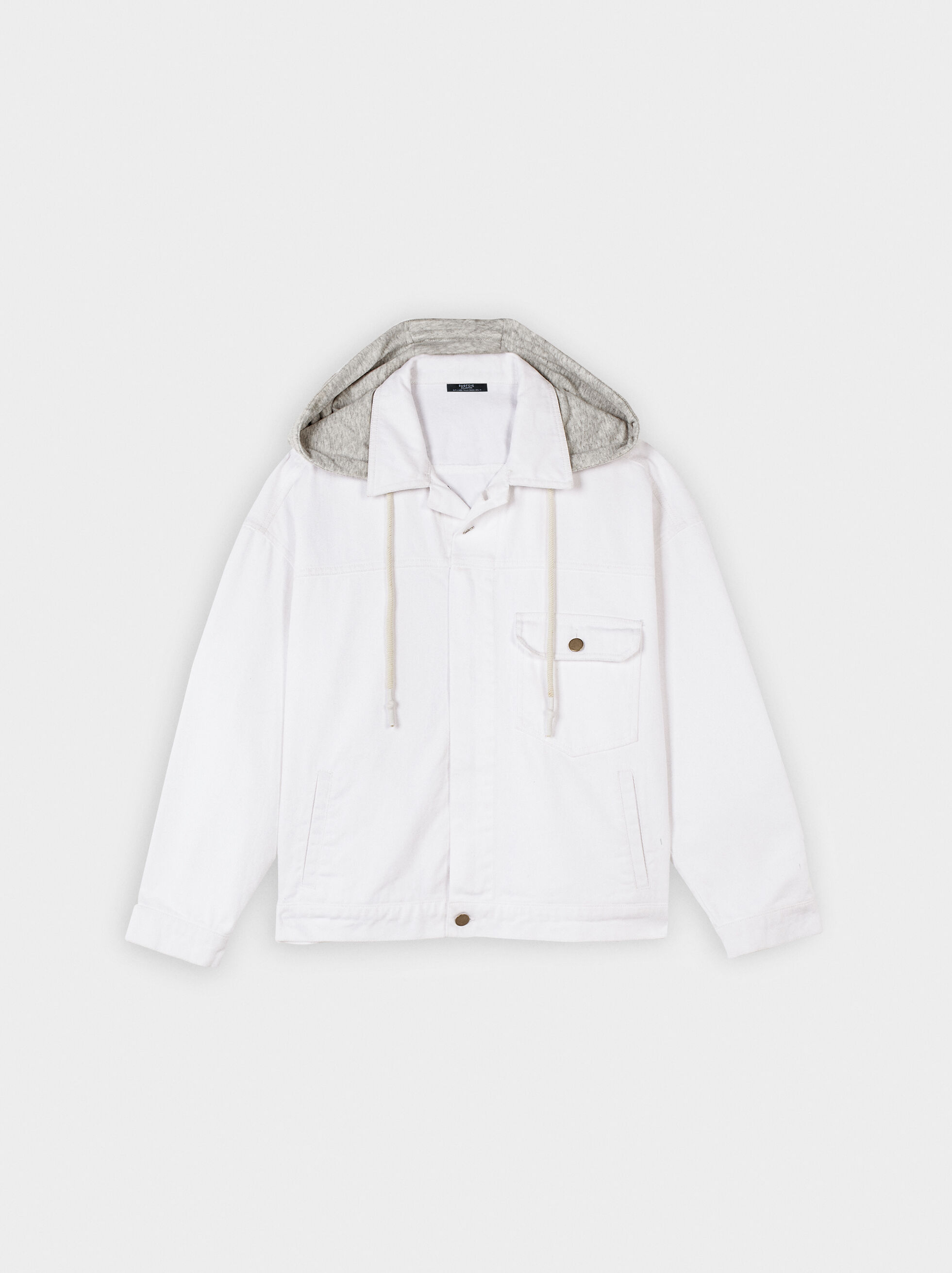 Jacket With Hood, White, hi-res
