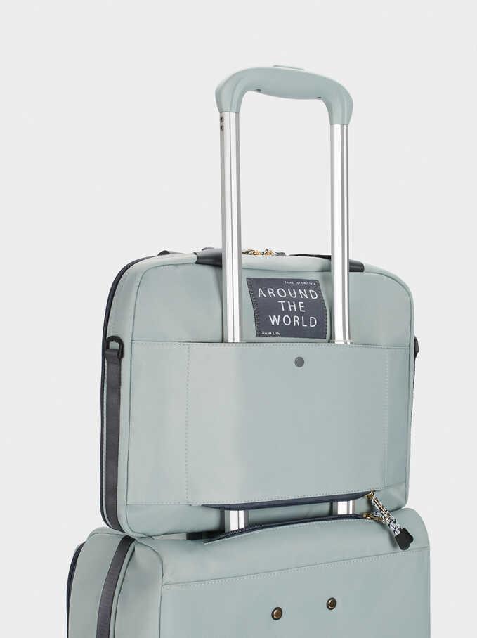 Nylon Suitcase, Blue, hi-res
