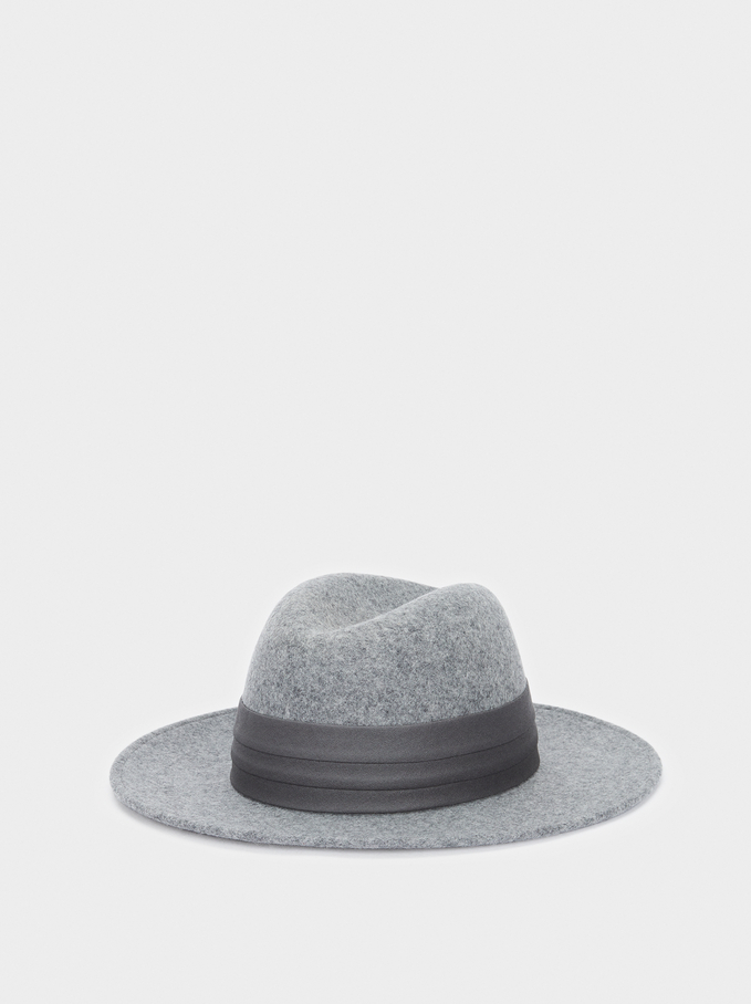 Chapéu Em Lã, Cinzento, hi-res