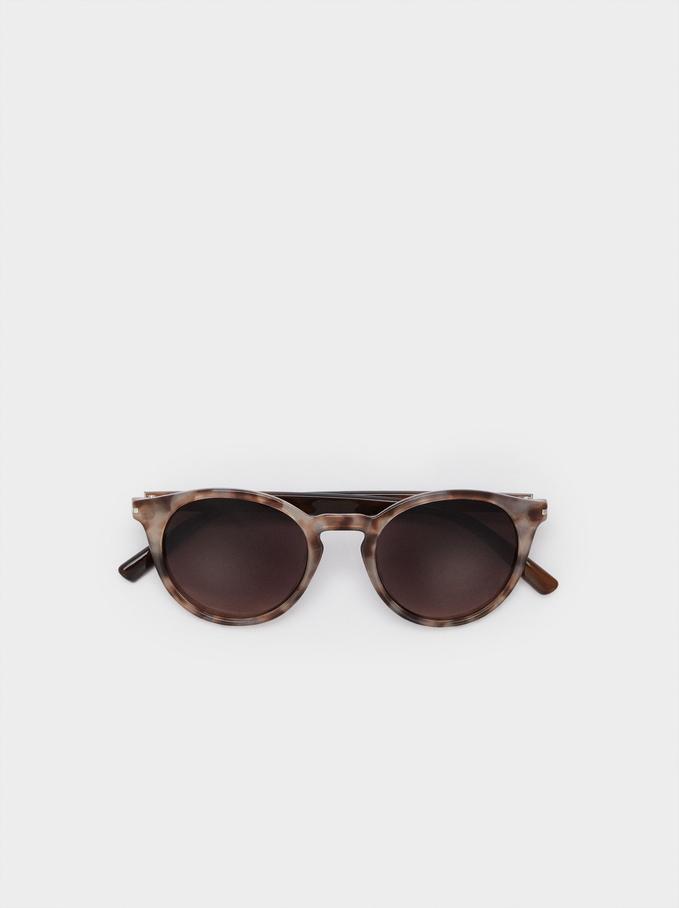 Gafas De Sol Montura Redonda, Rosa, hi-res