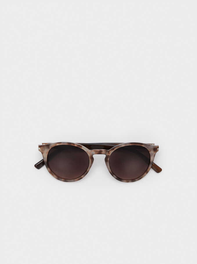 Sunglasses With Round Frames, Pink, hi-res