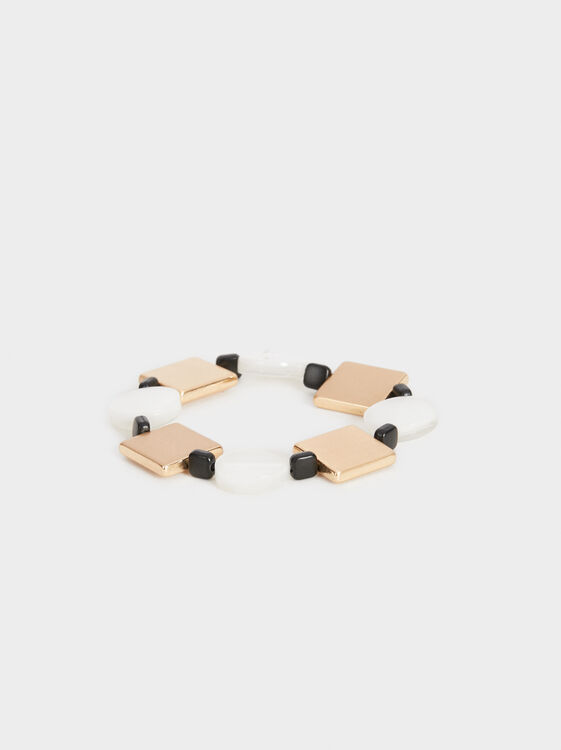 Blog Geometric Elastic Bracelet, Multicolor, hi-res