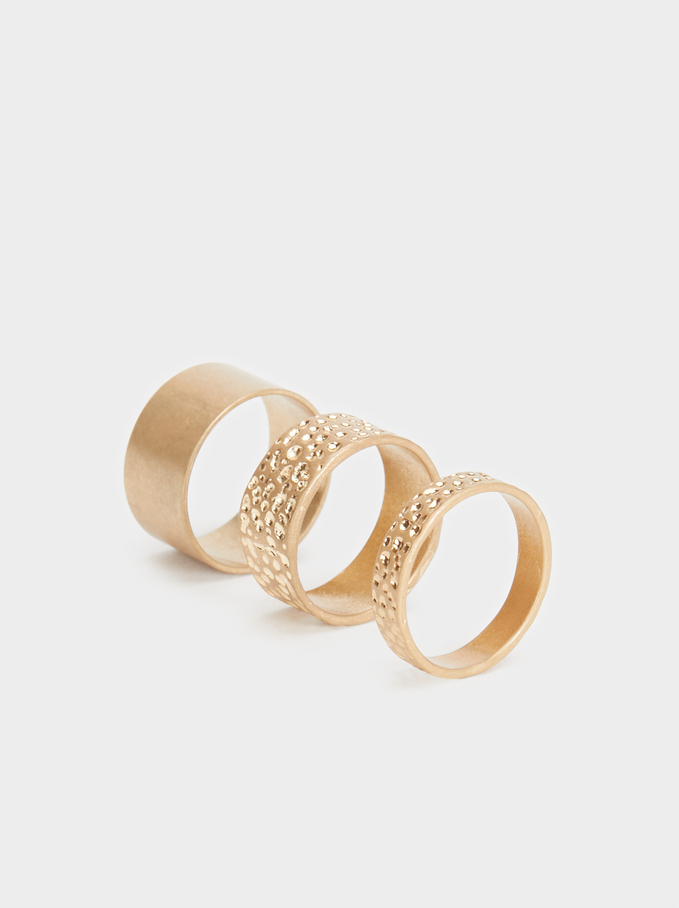 Set Of Basic Rings, Golden, hi-res