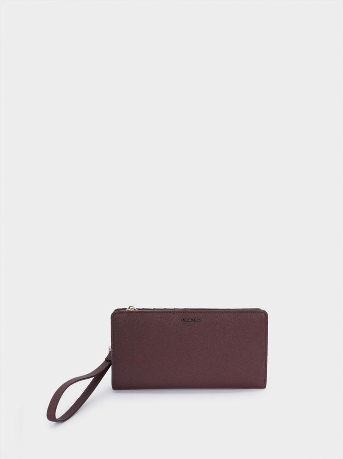 Large Wallet With Handle, Bordeaux, hi-res