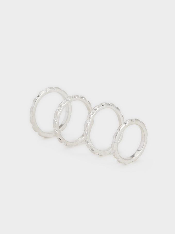 Set Of Basic Rings, Silver, hi-res