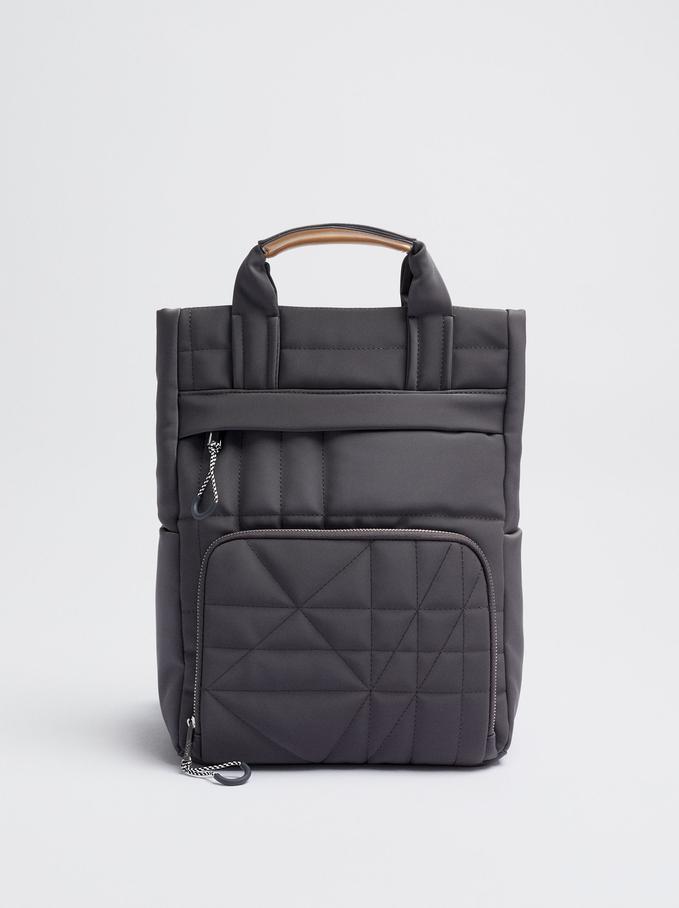 Rucksack Mit Nyloneffekt Für Ein 13-Zoll-Laptop, Grau, hi-res