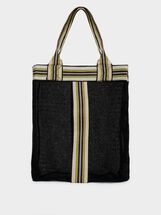 Tote Bag With Contrast Stripe, , hi-res