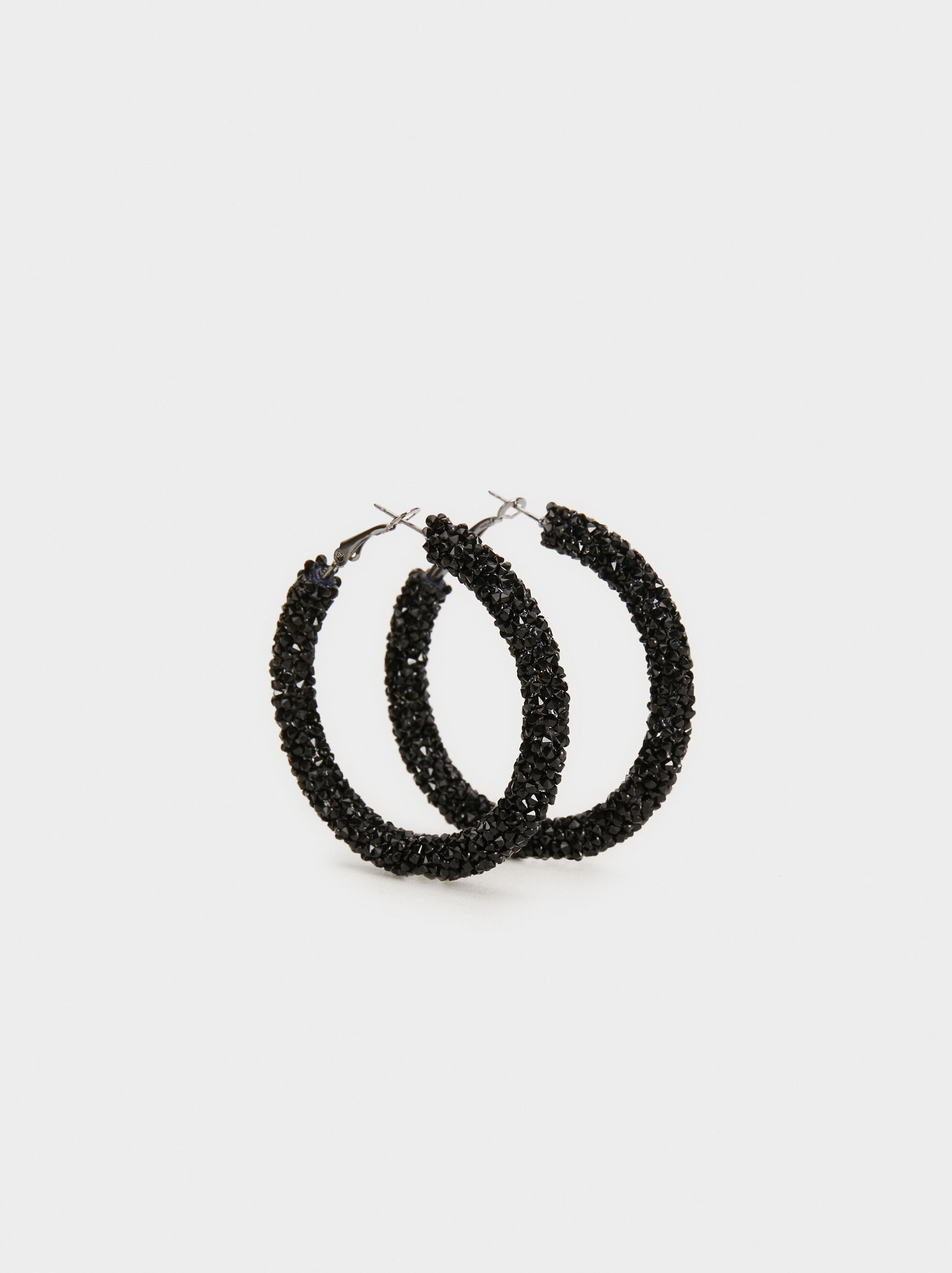 Funky Large Hoop-Earrings, , hi-res