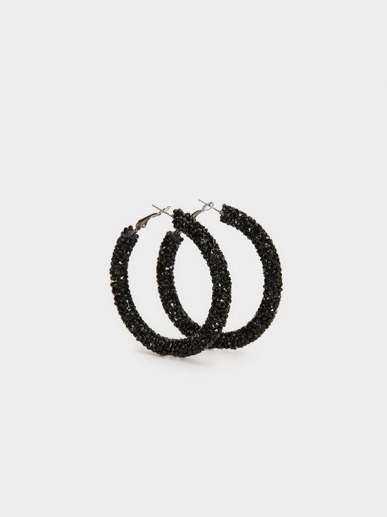 Funky Large Hoop-Earrings, , hi-res
