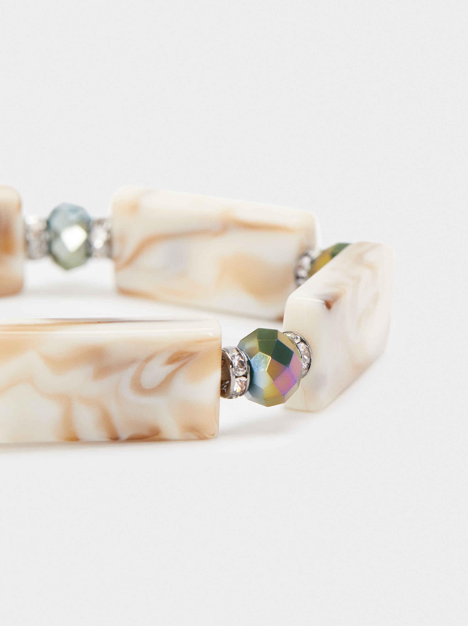 Pulsera Elástica Cristales Multicolor, Multicor, hi-res