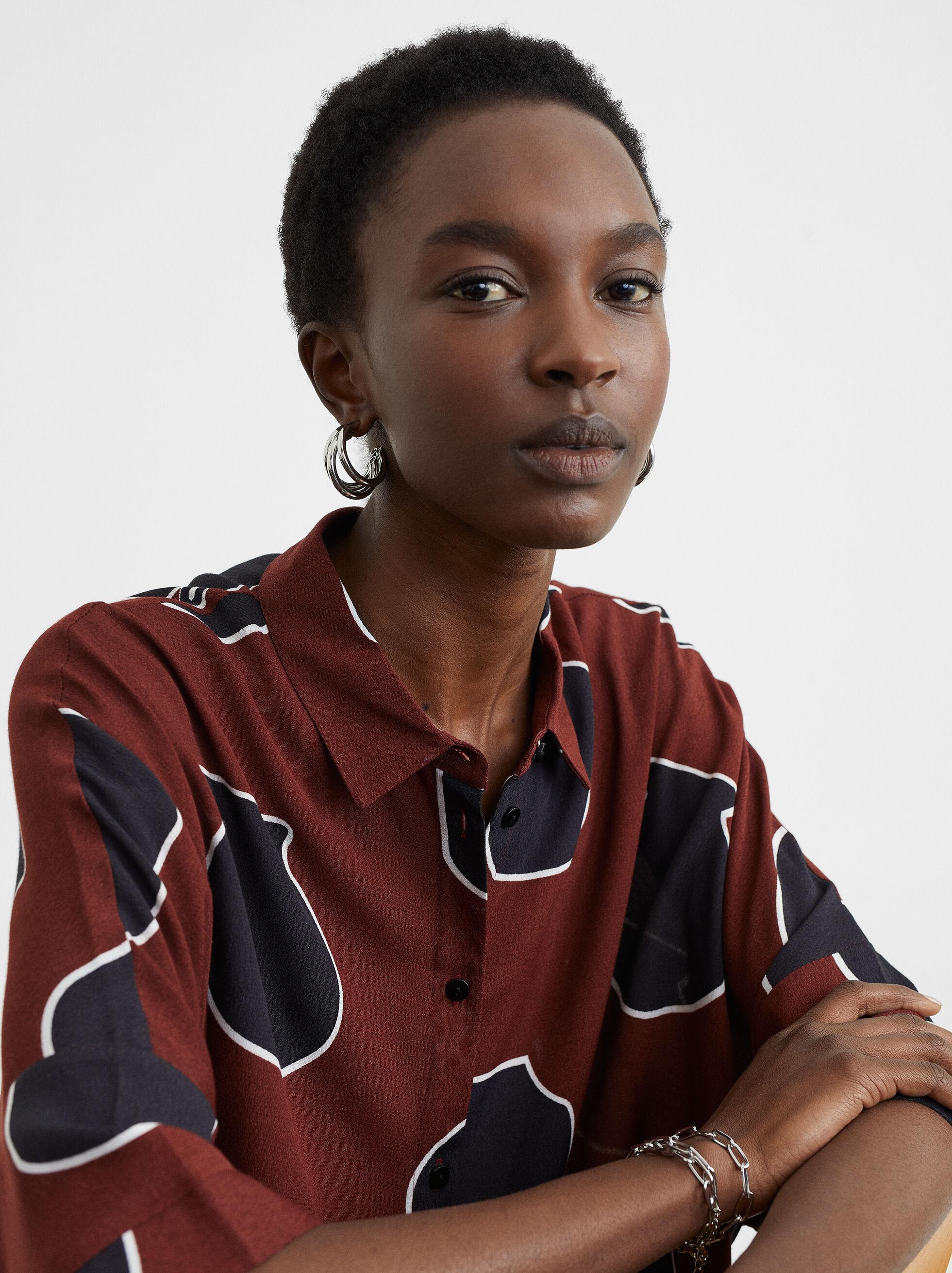 Printed Shirt, Bordeaux, hi-res