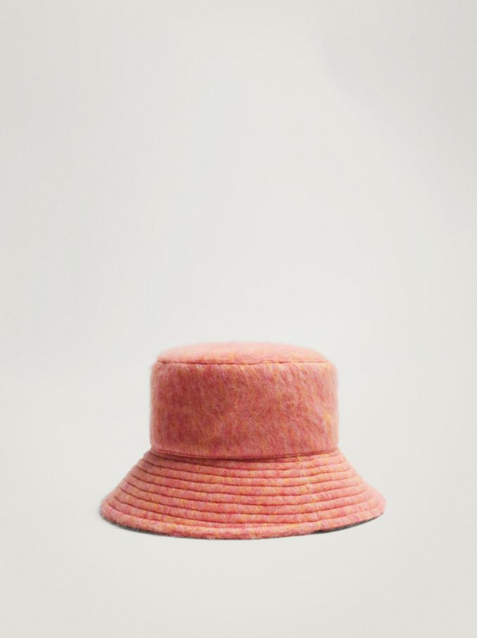 Gorro Bucket Con Textura, Rosa, hi-res
