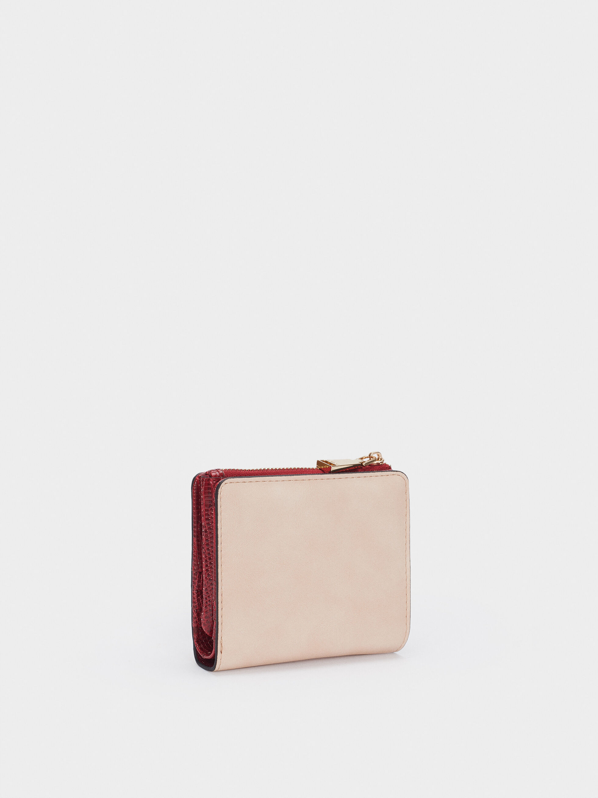 Zipped Purse, Beige, hi-res