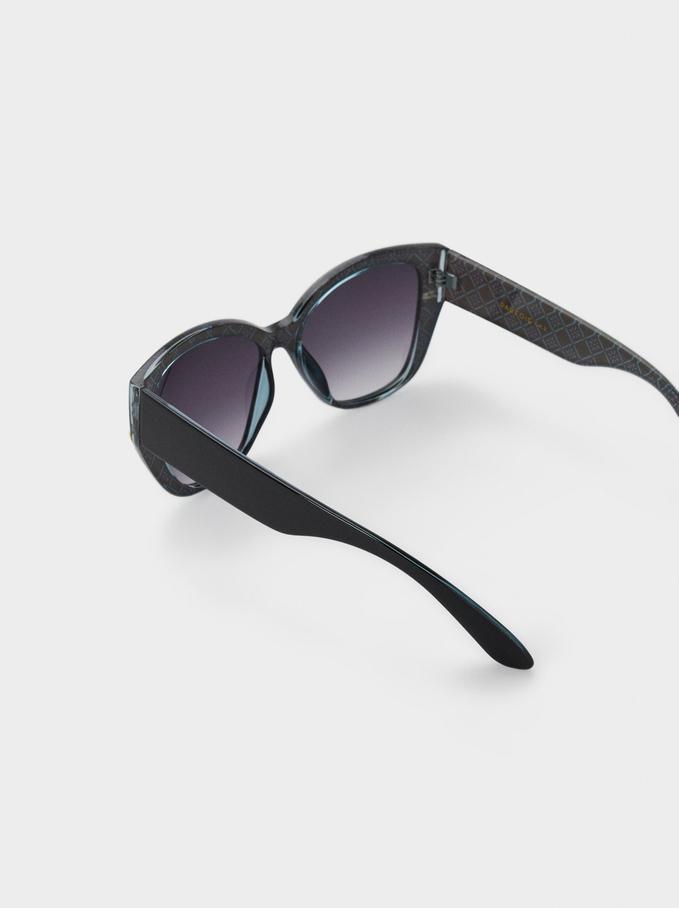 Lunettes De Soleil Cat Eye, Noir, hi-res