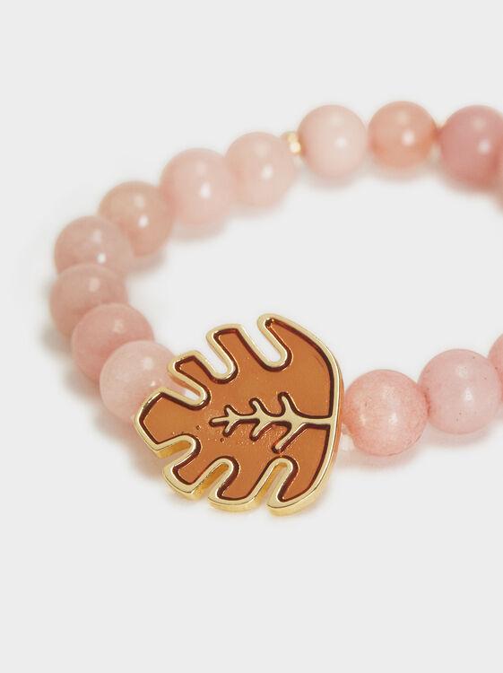 Bubbles Elastic Bracelet, Pink, hi-res