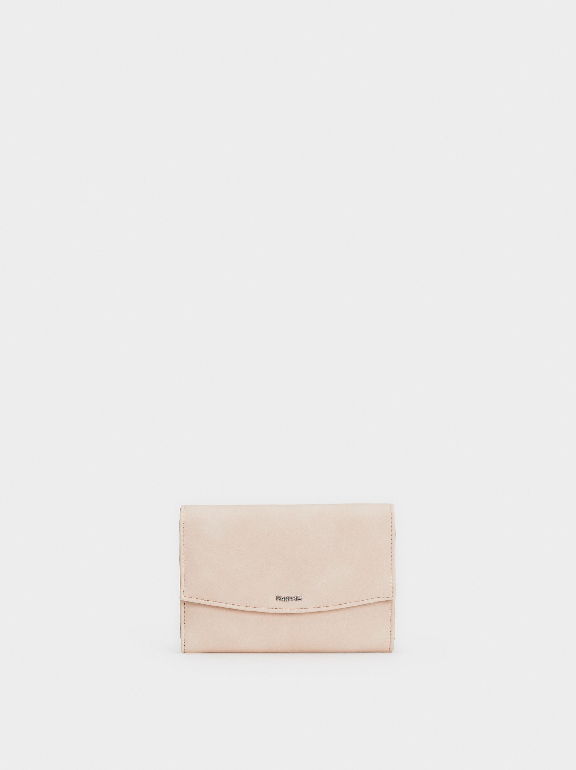 Small Suede Texture Purse, Beige, hi-res